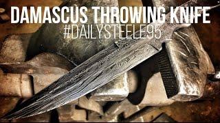 MAKING A DAMASCUS THROWING KNIFE