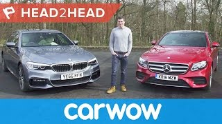 BMW 5 Series vs Mercedes E-Class 2018 review - which is best?   Head2Head