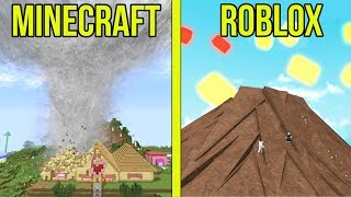MINECRAFT VS ROBLOX: SURVIVE THE DISASTERS!!!
