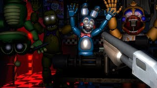 [FNAF SFM] FNAF 6 Ultimate Custom Night | Cheating & Counter Jumpscares Rockstar & All Animatronics