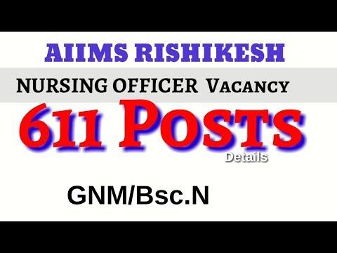 Xxx Mp4 611 Nursing Officer Vacancy AIIMS Rishikesh Latest Staff Nurse Vacancy Syllabus 3gp Sex