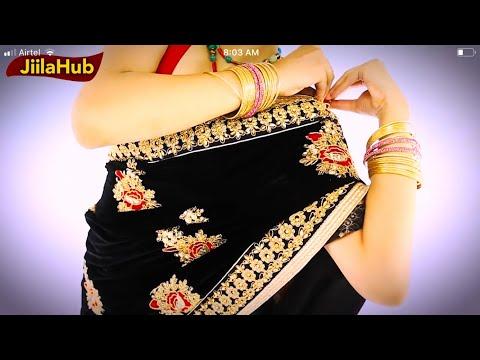 How To Wear Designer Half & Half Net Saree:Easy & Simple Sari Draping