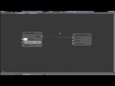 Blender tutorial - organize node - add reroute node with mouse (cycles)
