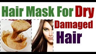 HAIR MASK FOR DRY DAMAGED HAIR//HAIR TREATMENT AT HOME