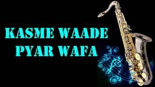 Kasme Waade Pyar Wafa    UPKAR    Manna Dey    Best Saxophone Instrumental   HD Quality