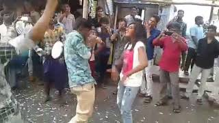 Madurai Young girl Marana kuthu dance for VIP 2 celebration in amirtham theatre