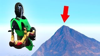 HOW FAR CAN YOU FLY WITH A BIKE? (GTA 5 Funny Moments)