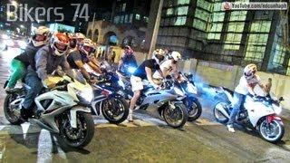Bikers 74 - Honda CBR 1000RR RL, S1000RR Burnout, Suzuki Wheelie, Yamaha, Kawasaki & More Superbikes
