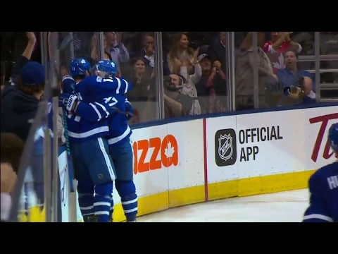 Interesting chain of events Marner gets hit Martin fights & Hyman scores