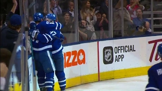 Interesting chain of events: Marner gets hit, Martin fights & Hyman scores