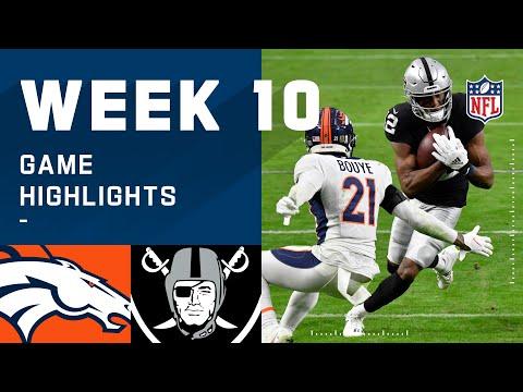 Broncos vs. Raiders Week 10 Highlights NFL 2020