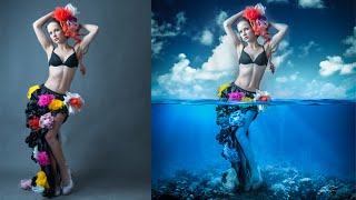 Photoshop Manipulation Tutorials Photo Effects | Underwater Girl