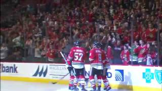 Toews records 600th career point with beautiful feed to Panik
