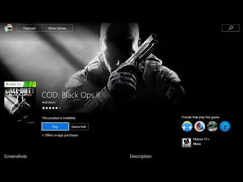 HOW TO DOWNLOAD & PLAY BLACK OPS 2 ON XBOX ONE! HOW TO DOWNLOAD BO2 FAST ON XB1