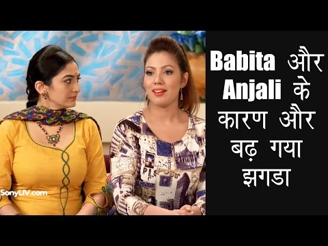 Xxx Mp4 Babita और Anjali के कारण और बढ़ गया झगडा Taarak Mehta Ka Ooltah Chashmah 3gp Sex