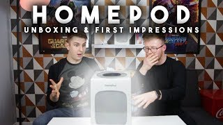 HOMEPOD UNBOXING AND FIRST IMPRESSIONS
