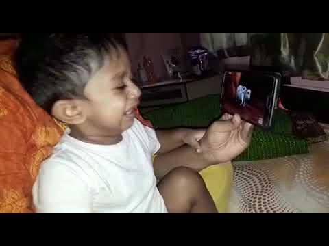 Baby getting emotional while watching punyakoti kathe