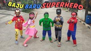 Superhero Beraksi & Unboxing Paket Isi Kostum Superhero + Topeng