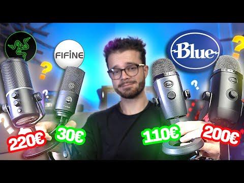 MICROS à 30€ vs 200€ Comparatif de MICROS USB FIFINE Blue Yeti X et Nano Razer Seiren Elite