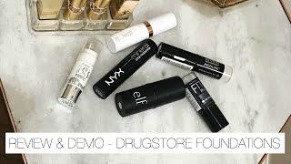 DRUGSTORE Foundation Sticks   Hits & Misses - Demo + Mini Reviews