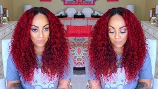 BLAC CHYNA RED WIG  ❤  HOW I MADE IT  ❤ NEW STAR HAIR  ❤ ALIEXPRESS