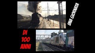 """""""Una Giornata di 100 anni"""" alla stazione di Cesena: Vaporiera FS 685 & NUOVA TRAXX DC3 """"E.494""""!"""