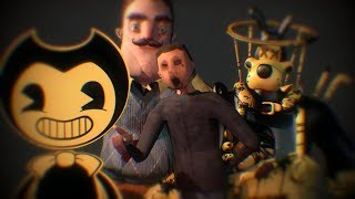 [SFM NEIGHBOR] Neighbor Bendy Baldi Animation Compilation