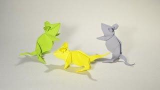 Origami Mouse by Kasahara Kunihiko - Yakomoga Origami tutorial