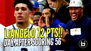 LiAngelo Ball Scores 72 POINTS Day AFTER Scoring 56!! FULL Highlights!