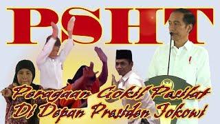 Pesilat Gokil Peragaan Didepan Presiden Jokowi Pencak Silat PSHT, Tapak Suci, Cimande