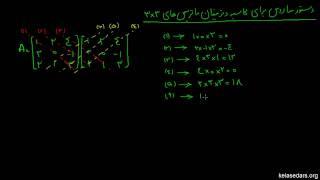 ماتریس و دترمینان ۱۶- دستور ساروس برای محاسبه دترمینان