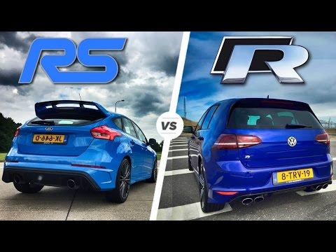 VW Golf R MK7 vs Ford Focus RS MK3 HEAD 2 HEAD