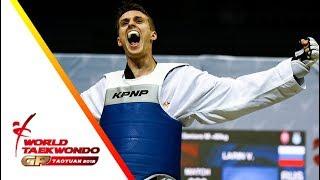 Taoyuan 2018 World Taekwondo GP-Final [male +80kg] Vladislav LARIN(RUS) vs Anthony Mylann OBAME(GAB)