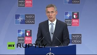LIVE: NATO Stoltenberg holds press conference following NATO-Russia Council in Brussels