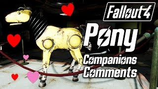 Fallout 4 - Giddyup Buttercup Pony - All Companions Comments
