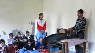 Girl sings an old Punjabi folk song