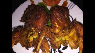 Kaada nirachathu/stuffed quail