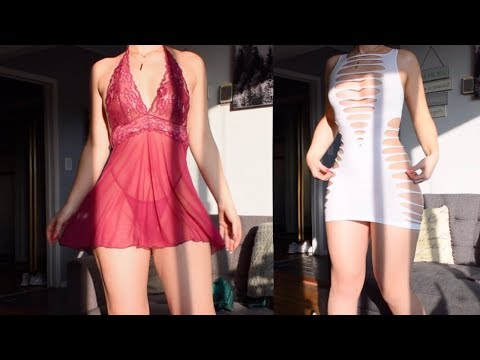 Xxx Mp4 Valentine S Day Try On Haul Lingerie By ADAM EVE 3gp Sex