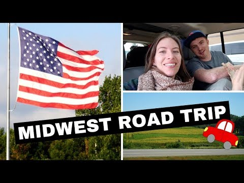 USA Road Trip in the Midwest Driving from North Dakota to Michigan