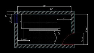 How to make Dog leg stair in auto cad(ডগ লেগ সিঁড়ি)