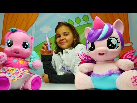 Göz hekimi oyunu. Oyuncak Pony Pinkie Pie ile #doktoroyunu oynuyoruz