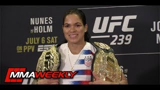 Amanda Nunes: Champ Champ Defending Against Holly Holm  (UFC 239 Media Day)