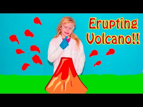 ERUPTING VOLCANO Experiement Assistant Fun Learning STEM Science Experiment Video