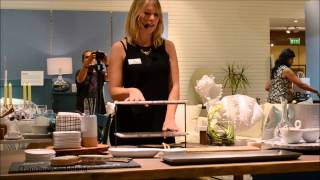 Table Setting Workshop@the 5th Anniversary Of Crate & Barrel In Dubai