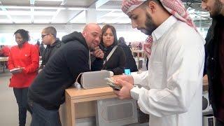 ARAB GUY BUYS EVERYONE AN iPHONE 6S!!!