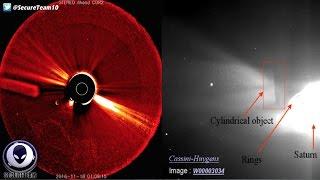 UFO Invasion Panic: Giant Cigar Object Near Sun & Venus 11/26/16