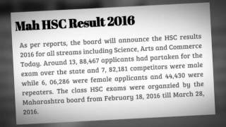 Maharashtra HSC Result 2016 Declared Today Check Now From Here Maharashtra HSC Result 2016