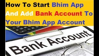 Bhim App Start Process !!! Add Account Detail To Bhim App