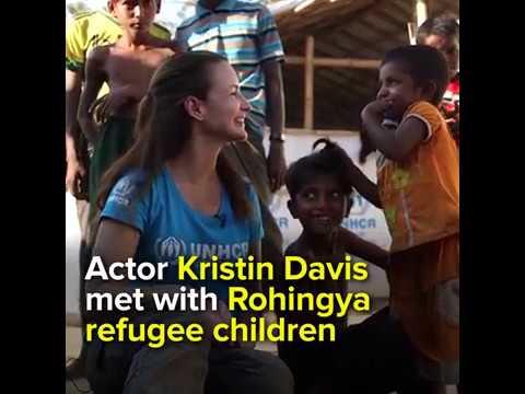 Xxx Mp4 Actor Kristin Davis Met With Rohingya Refugee Children 3gp Sex