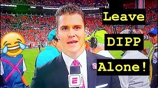 LEAVE SERGIO DIPP ALONNNNNNE!!! ESPN Sideline Reporter Does A Masterful Job On Monday Night Football